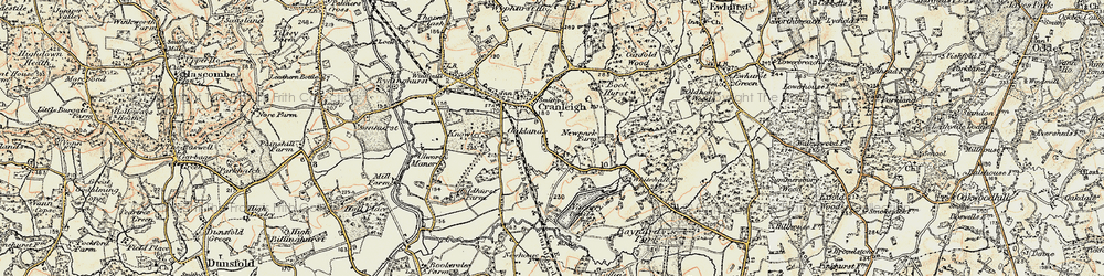 Old map of Whitehall in 1897-1909