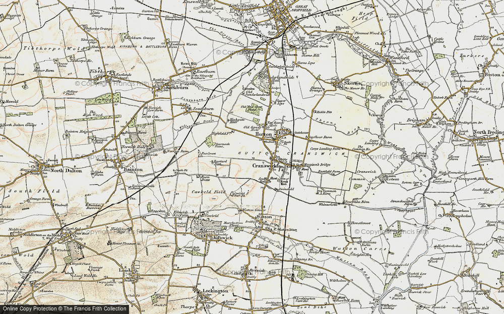 Old Map of Cranswick, 1903 in 1903
