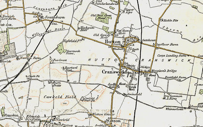 Old map of Cranswick in 1903