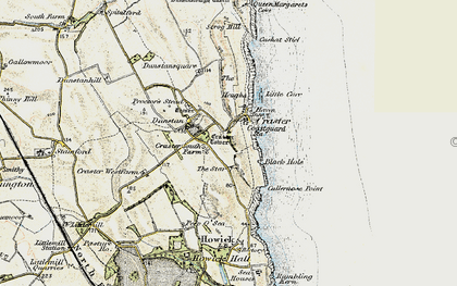 Old map of Craster in 1901-1903
