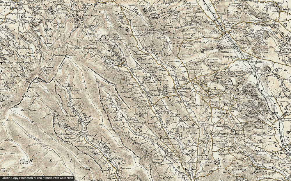 Old Map of Historic Map covering Auburys in 1900-1901