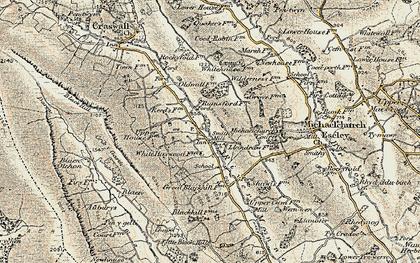 Old map of Auburys in 1900-1901