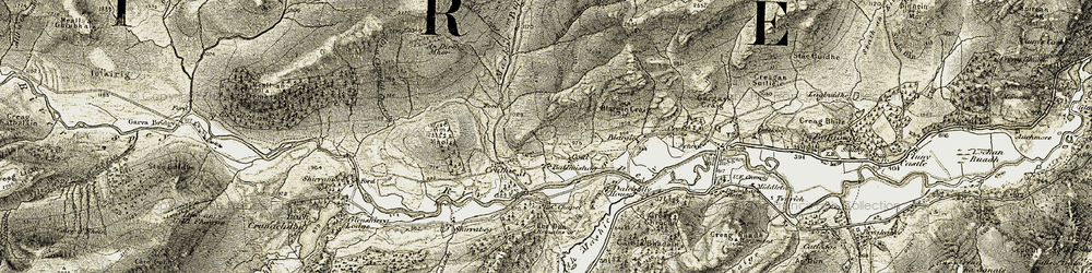 Old map of Achduchil in 1908