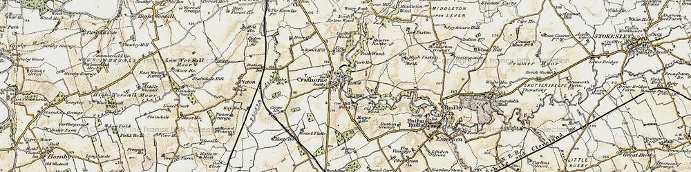Old map of Crathorne in 1903-1904