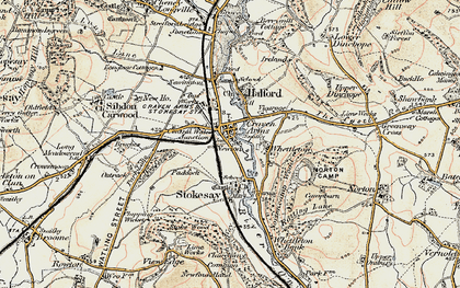 Old map of Craven Arms in 1901-1903