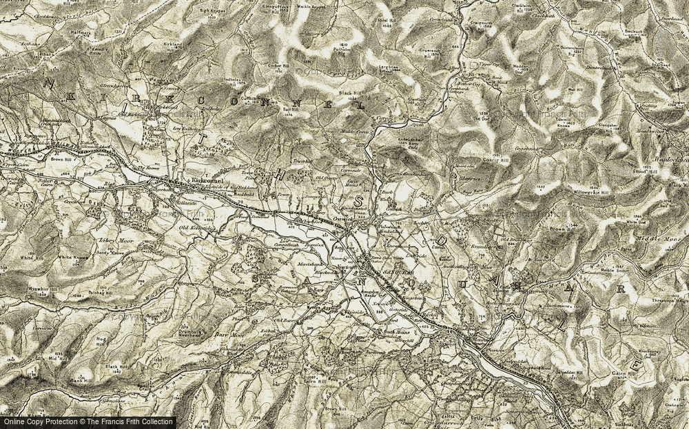 Old Map of Historic Map covering Back Wood in 1904-1905