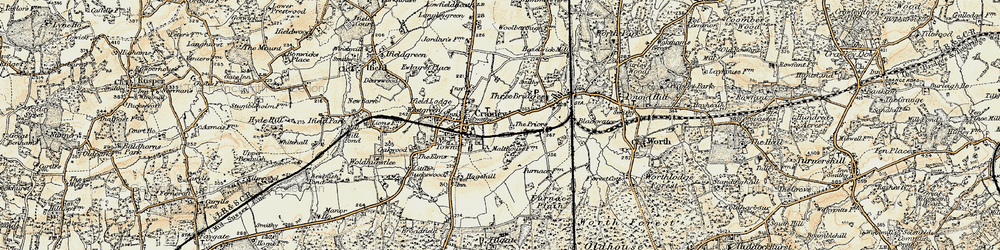 Old map of Crawley in 1898-1909