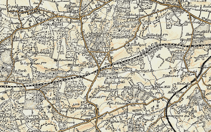 Old map of Crawley Down in 1898-1902