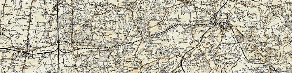 Old map of Alexander Ho (Hotel) in 1898-1902