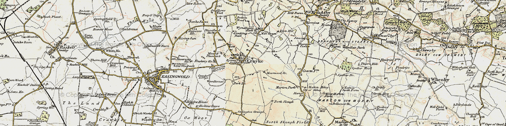 Old map of Crayke in 1903-1904