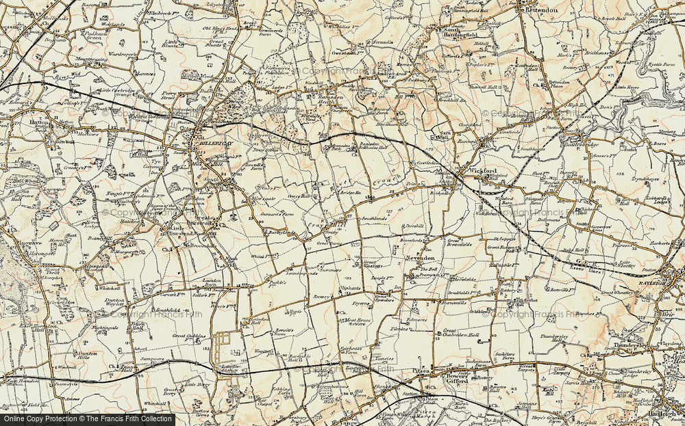 Old Map of Crays Hill, 1898 in 1898
