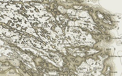Old map of Bàgh a' Bhràoige in 1911