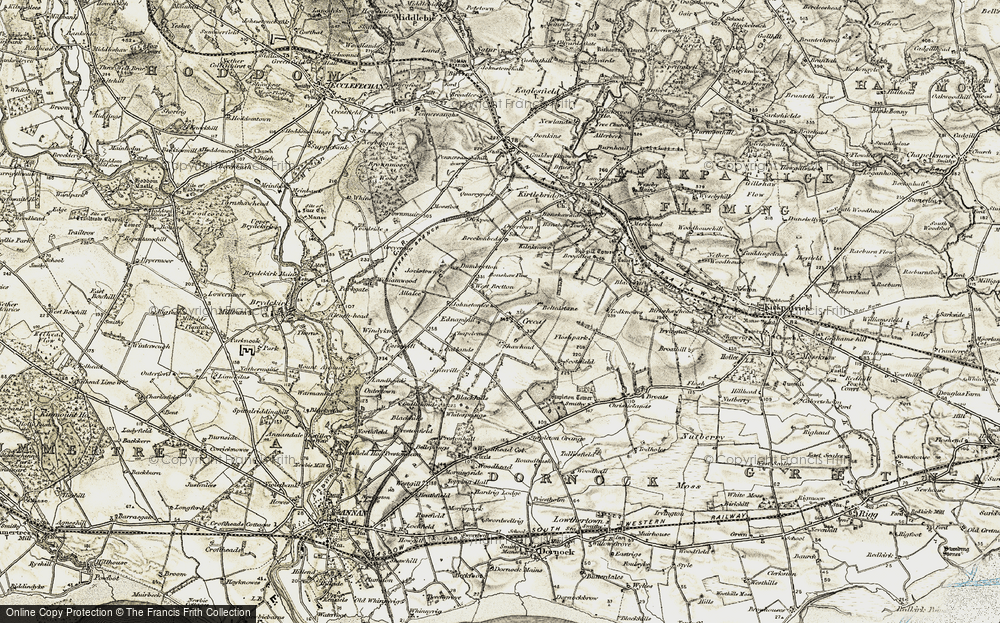 Old Map of Historic Map covering Allalea in 1901-1904