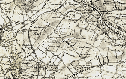 Old map of Allalea in 1901-1904
