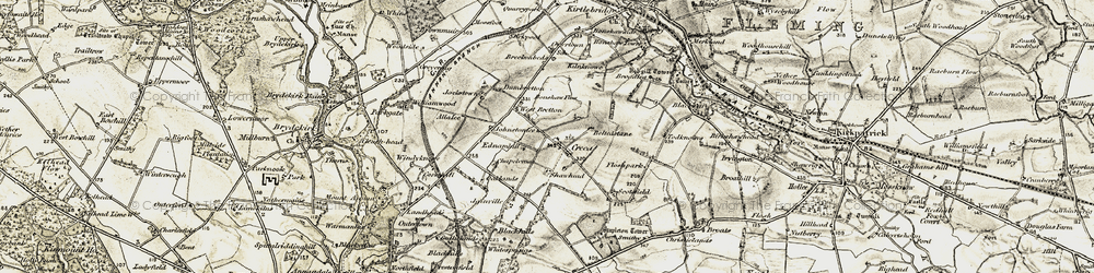 Old map of Windyknowe in 1901-1904