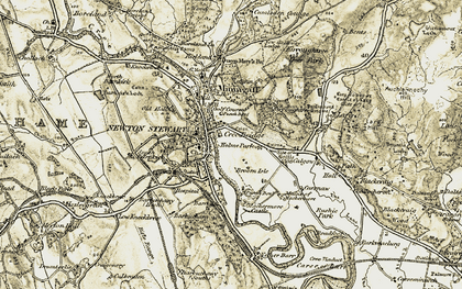 Old map of Baltersan Cross in 1905