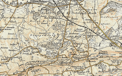 Old map of Whitehall in 1899-1909