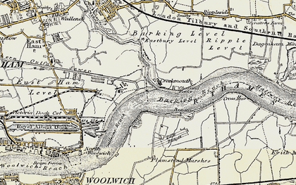 Old map of Barking Creek in 1897-1902