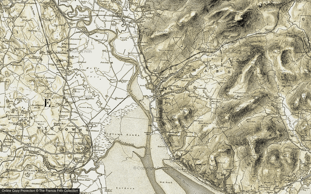 Old Map of Historic Map covering Lennies in 1905