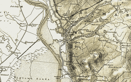 Old map of Lennies in 1905