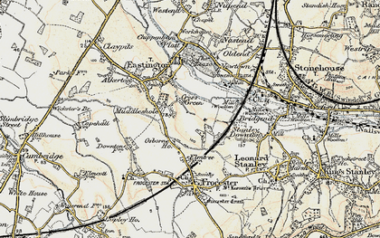 Old map of Cress Green in 1898-1900