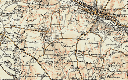 Old map of Cressex in 1897-1898
