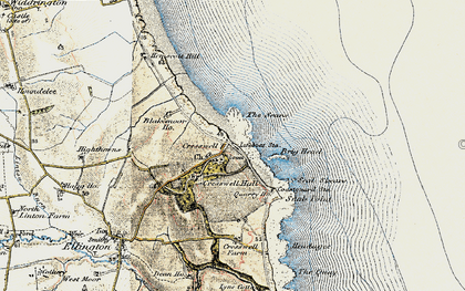 Old map of Cresswell in 1901-1903