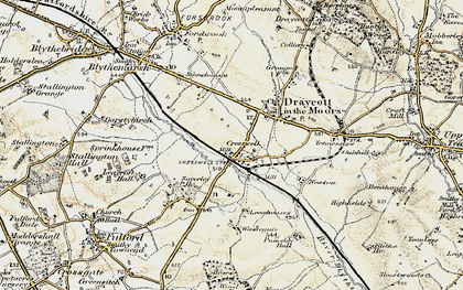 Old map of Leacroft Hall in 1902