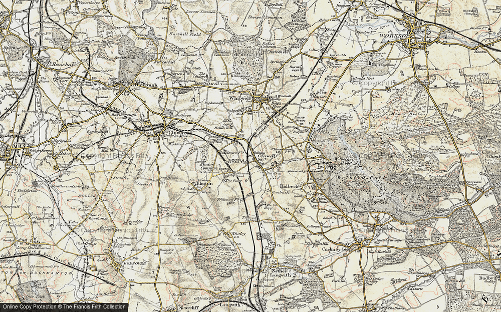 Old Map of Creswell, 1902-1903 in 1902-1903
