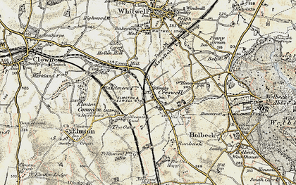 Old map of Creswell in 1902-1903