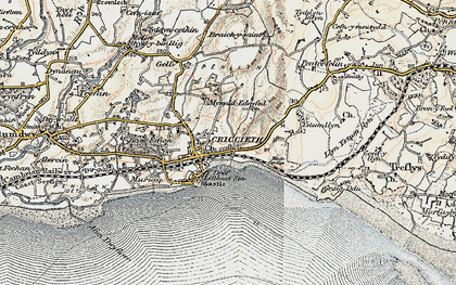 Old map of Criccieth in 1903
