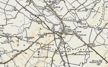 Old map of Cricklade in 1898-1899