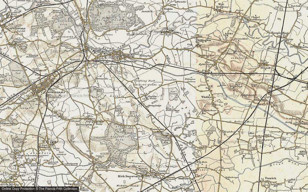Old Map of Historic Map covering Aire and Calder Navigation (Knottingley and Goole Canal) in 1903