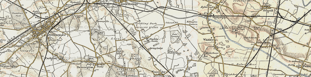 Old map of Aire and Calder Navigation (Knottingley and Goole Canal) in 1903