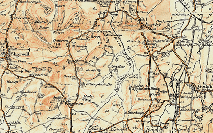 Old map of Worsley Trail in 1899