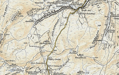 Old map of Afon Gorddinan in 1903