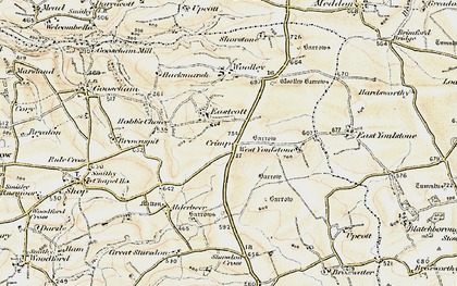 Old map of Wrasford Moor in 1900
