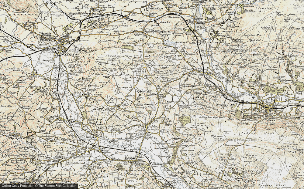Old Map of Historic Map covering Bank End in 1903-1904