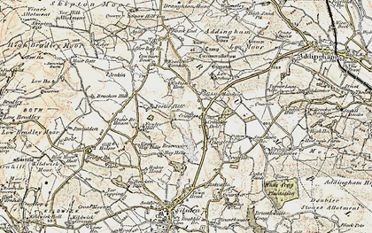 Old map of Addlingham Low Moor in 1903-1904