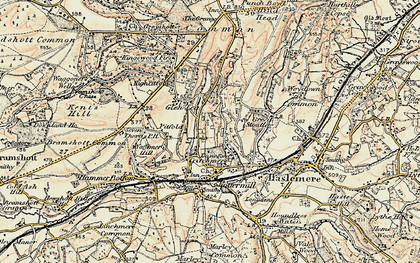 Old map of Critchmere in 1897-1900
