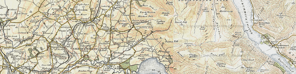 Old map of Whiteoak Moss in 1901-1904
