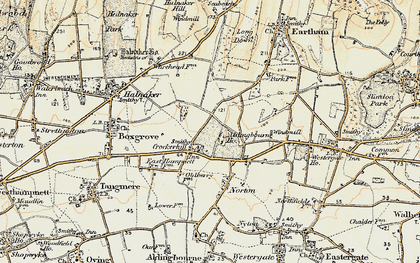 Old map of Aldingbourne Ho in 1897-1899