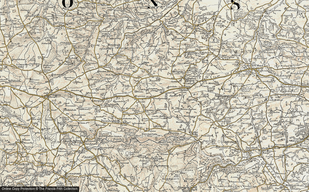 Old Map of Crockernwell, 1899-1900 in 1899-1900
