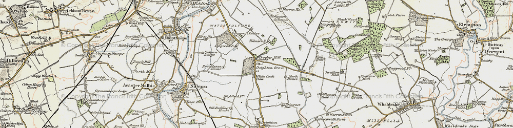 Old map of Wigman Hall in 1903