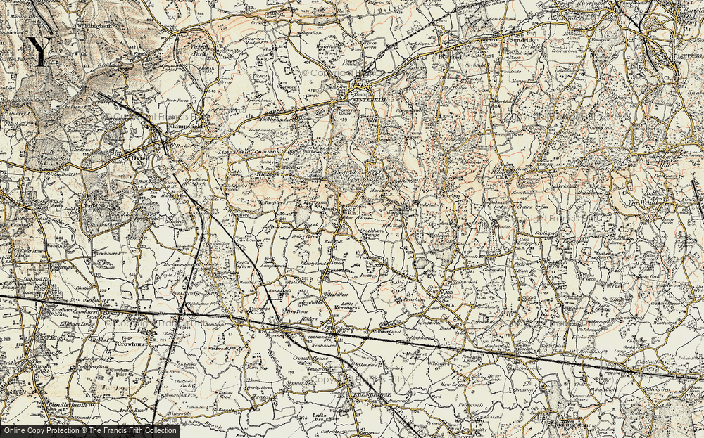 Old Map of Crockham Hill, 1898-1902 in 1898-1902