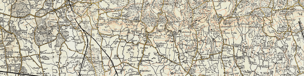 Old map of Crockham Hill in 1898-1902