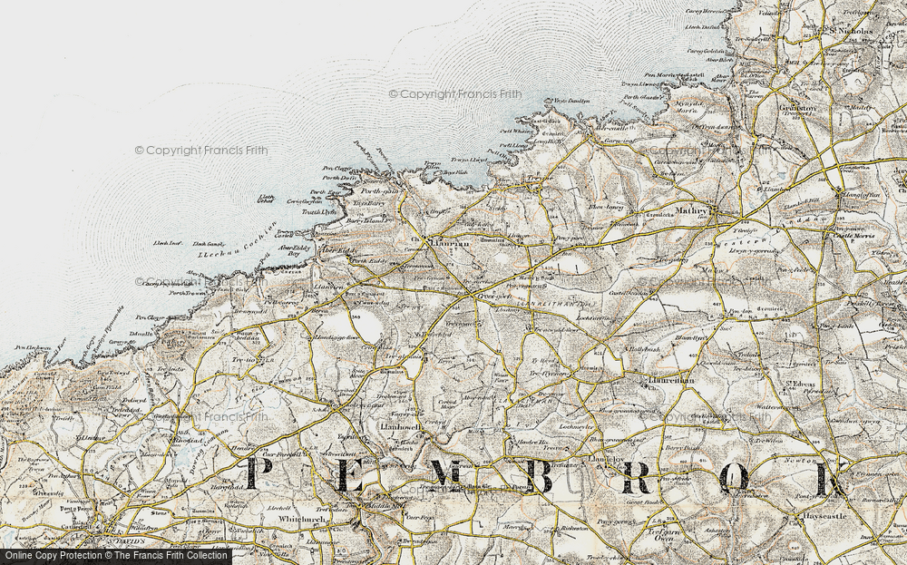Old Map of Croes-goch, 0-1912 in 0-1912