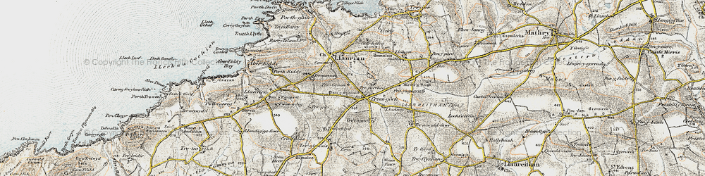 Old map of Croes-goch in 0-1912