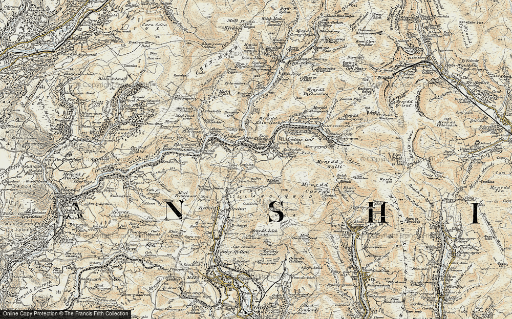 Old Map of Croeserw, 1900-1901 in 1900-1901