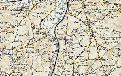 Old map of Croesyceiliog in 1901